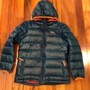Patagonia Boys Hi-Loft Down Sweater Hoody. 12 (L)
